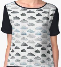 Storm Clouds Chiffon Top