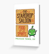 Stardrop Saloon Greeting Card