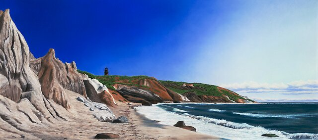 Late Afternoon on Gay Head, Martha's Vineyard by Anthony Petchkis