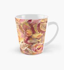 Watercolor Hand-Painted Red Yellow Autumn Fall Roses Tall Mug