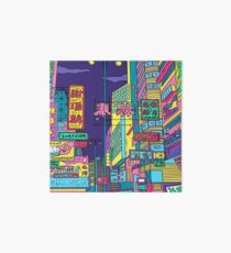 Neon city Art Board