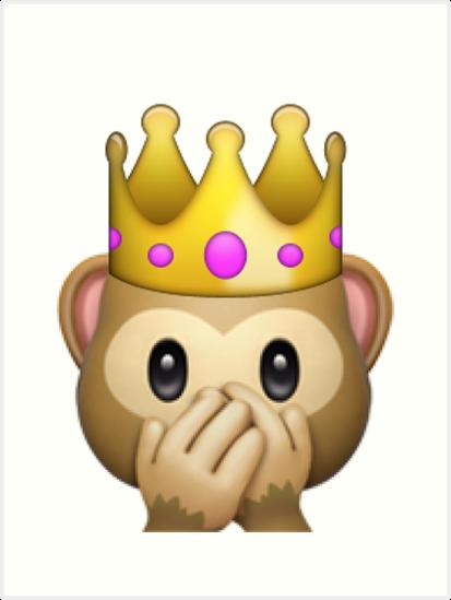 Princess Crown Monkey Emoji