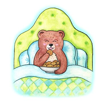 A bear eating cookies by AllaRi
