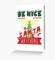 Funny Cardiovascular-Technologist Xmas Christmas Gift Idea Greeting Card