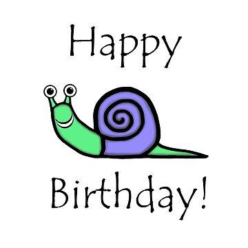 Birthday Snail by blakcirclegirl