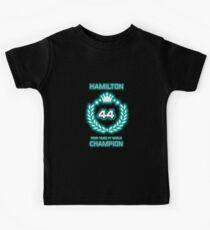 Lewis Hamilton 4 Time World Champion Kids Tee