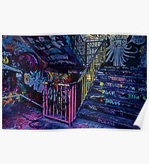 Graffiti staircase Poster