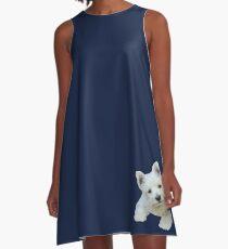 West Highland White Terrier Puppy portrait 3 A-Line Dress