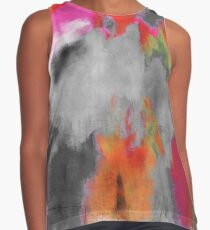 Gray Abstract Contrast Tank