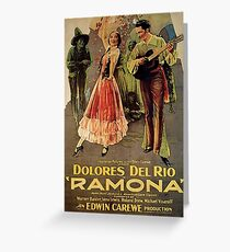Ramona, Mexican dance, romantic western, vintage poster Greeting Card