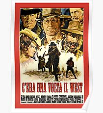 Old western movie poster Poster