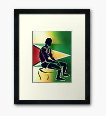 Custom Stencil Man (Guyana) Framed Print
