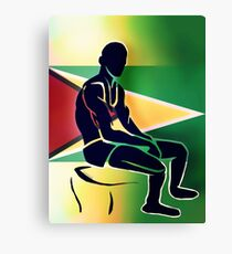 Custom Stencil Man (Guyana) Canvas Print