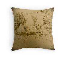 Rhino Art by Bonnie Pelton Throw Pillow