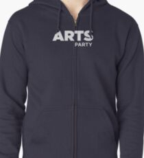Official Purple - Arts Party of Australia Zipped Hoodie