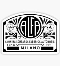 Alfa - Anonima Lombarda Fabbrica Automobili Sticker