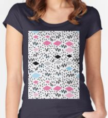Memphis Postmodern Retro style Women's Fitted Scoop T-Shirt