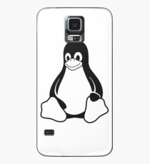 Linux Penguin - Monochrome Case/Skin for Samsung Galaxy