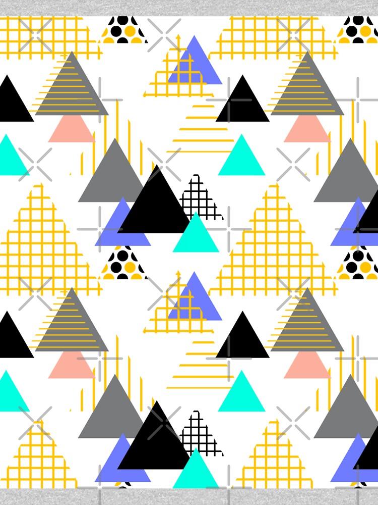 Geometric elements Memphis Postmodern Retro fashion style 80-90s.  by EkaterinaP
