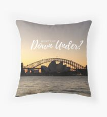 What's Up Down Under Sydney Sunset Photo Throw Pillow