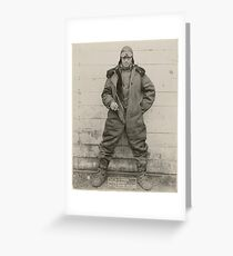 Airmail pilot William C. Hopson in winter flying clothing, ca. 1926 2 Greeting Card