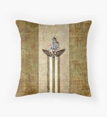 polo player golden_ocher Floor Pillow