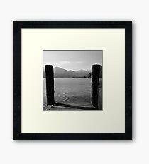 Lake Orta Italy, Boardwalk View Framed Print