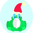 Father Christmas Frog by Shelly Still
