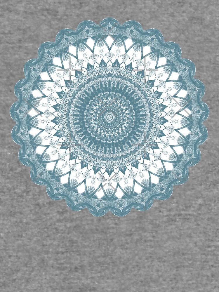 Boho Blue Mandala by kellydietrich
