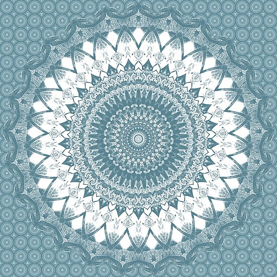 Boho Blue Mandala by Kelly Dietrich