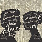 Pride and Prejudice Quote Art, Jane Austen Typography Home Decor, Book Lovers Gift by BlueBunnyStudio