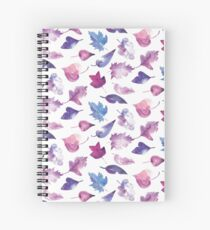 Leaves in lilac watercolors Spiral Notebook