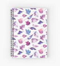 Hojas en acuarelas lilas Spiral Notebook