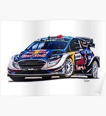 Sebastien Ogier's Ford Fiesta RS WRC (Prints and Mugs) Poster