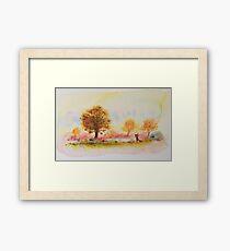 Autumn fox Framed Print