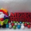 Christmas 2017 Happy Rainbow Santa by Jen Waltmon