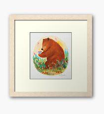 bear and bunny Framed Print