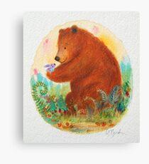 bear and bunny Canvas Print