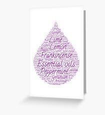 Essential oils - purple drop Greeting Card