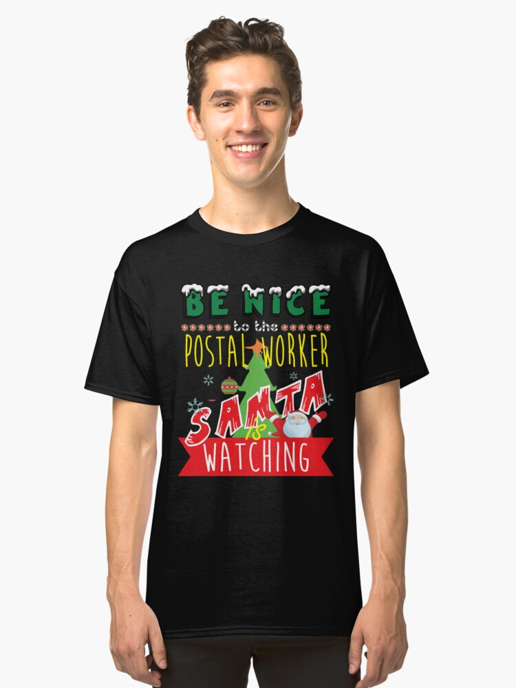 Funny Postal-Worker Xmas Christmas Gift Idea Classic T-Shirt Front