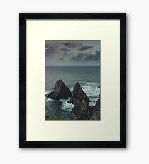 Ireland cliffs - Inishturk  Framed Print