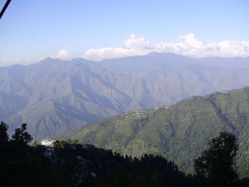 Scenic view of Masoorie by satya4u
