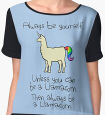 Always Be Yourself, Unless You Can Be A Llamacorn Women's Chiffon Top
