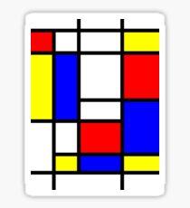 Pegatina Mondrian