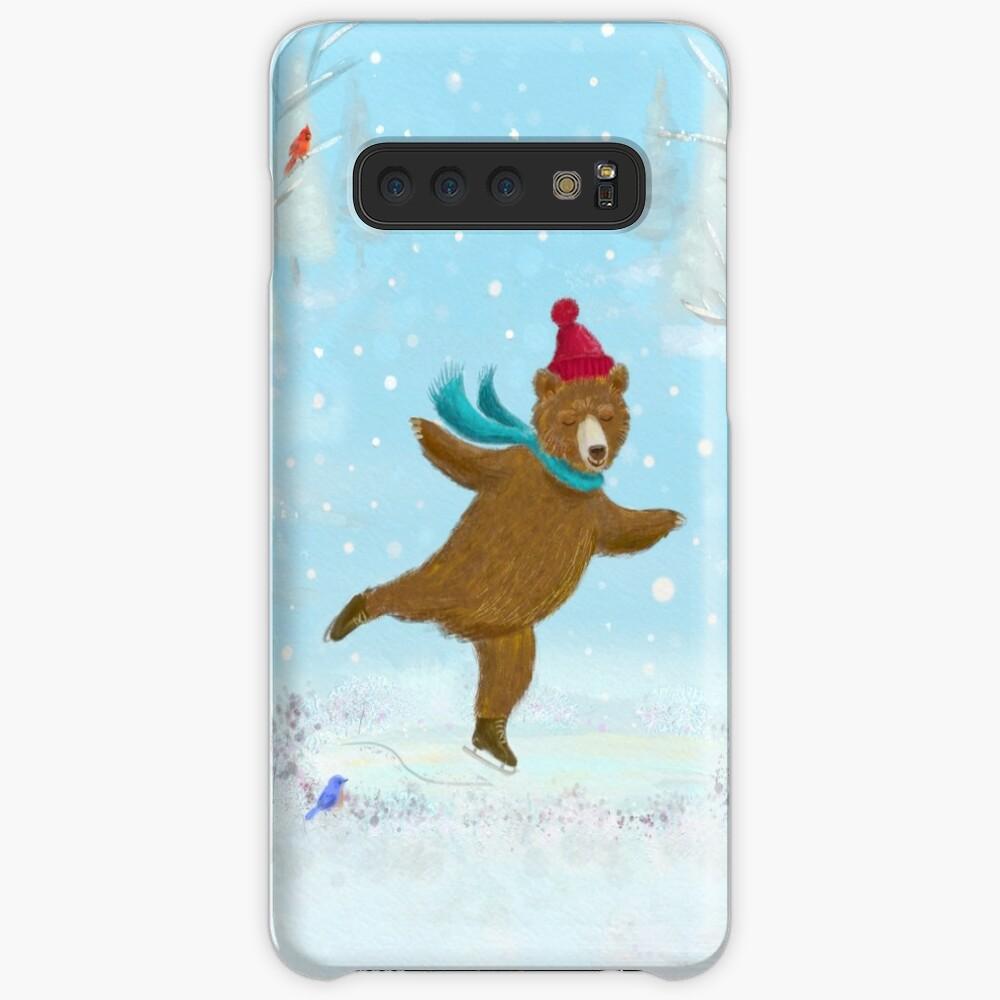 skating bear Case & Skin for Samsung Galaxy