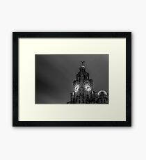 Top of the Liver Building tower Framed Print