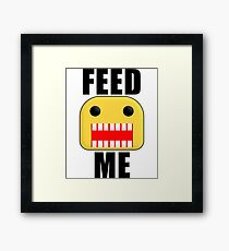 Roblox Feed Me Giant Noob Framed Print