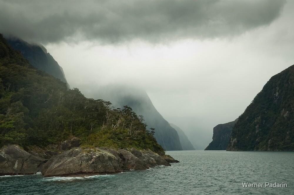 Milford Sound in Cloud  by Werner Padarin