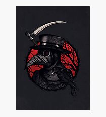 Plaguedoctor Red and Black Illustration Photographic Print