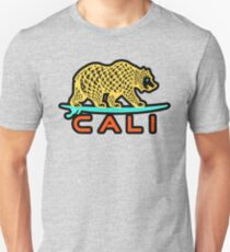 Cali Bear (Yellow with Black Border) Unisex T-Shirt